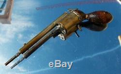 Victorienne Rare Superbe Unique Nouveauté Rétractable Gun Porte-mine