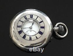 Victorienne Solid Silver Half Hunter Pocket Watch Par J W Benson, Londres 1889