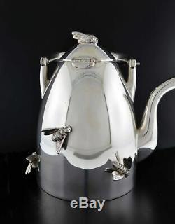 Vintage Christian Dior Argent 925 3d Taon Insectes Teapot