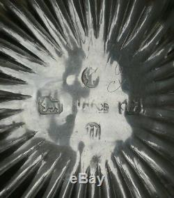 Vtg 1887 Victorian H Bros Salière Et Cuillères À Sel En Argent Massif Doré
