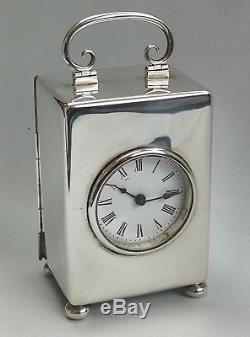 Vtg Pendule Calandre Argentée Pleine Grandeur William Comyns & Sons 1898