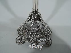 Whiting Vase 5266 Bud Antique Percé De Style Victorien En Argent Sterling Américain