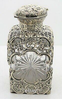 William Comyns Percé Argent Monté Parfum Bouteille De Parfum. Chiffres 5.25.1893