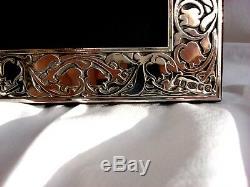 Xlarge Superb Finest 999 Qualité Poinçonné Silver London & Britannia Photoframe